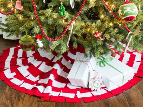 no sew sunburst christmas tree skirt hgtv