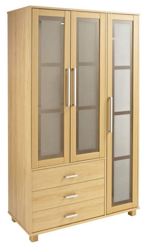 Innovation Wardrobe 3 Doors wardrobes 2 glass door wardrobe beech effect