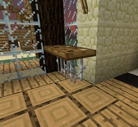 Dining Table In Minecraft Minecraft Furniture Tables