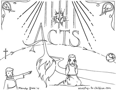 Coloring Page Acts 9 by This Free Coloring Page Is Based On The Book Of Acts It S