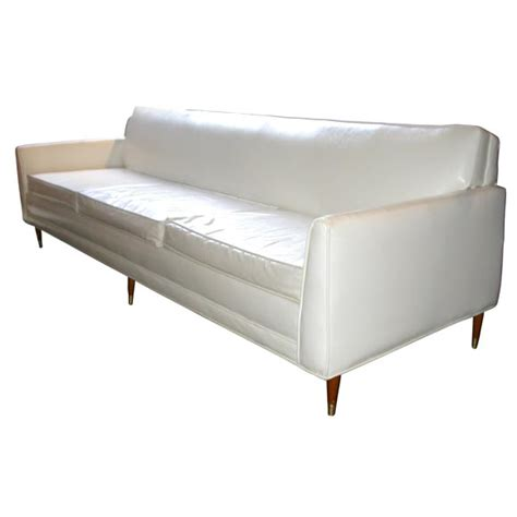 white vinyl sofa at 1stdibs