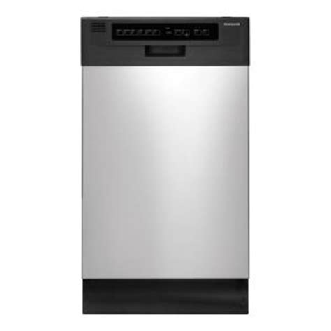frigidaire 18 in front dishwasher in stainless