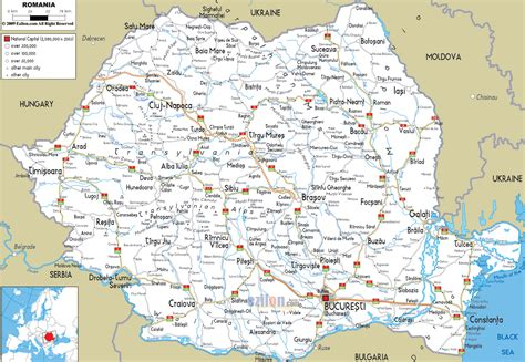 romania map with cities maps of romania detailed map of romania in