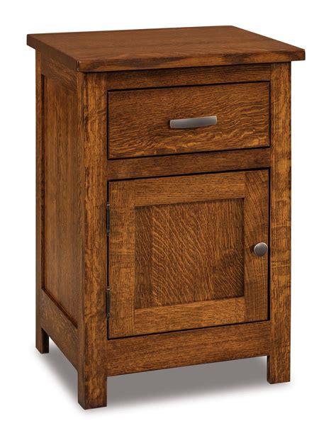 flush mission  drawer  door nightstand amish furniture store mankato mn