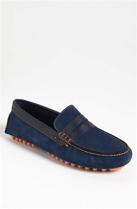 cole haan driving shoes cole haan air grant driving shoe in blue for blazer