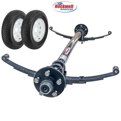 boat trailer axles 3500 lb 3 500 lb idler axle running gear set with wheel tires