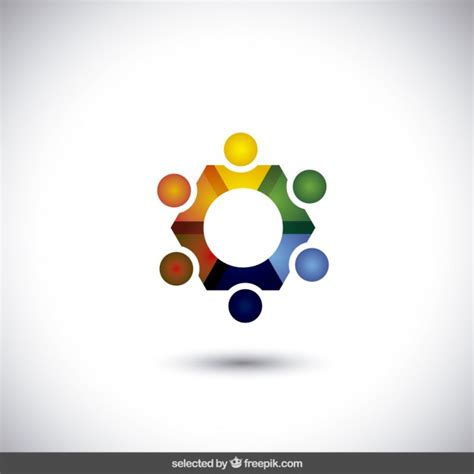 colorful circle logo colorful circle logo in abstract style vector free