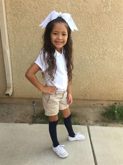 girl themes high school little girl school uniform white polo high knee socks