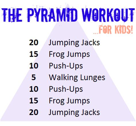 pyramid workout for families drazil foods