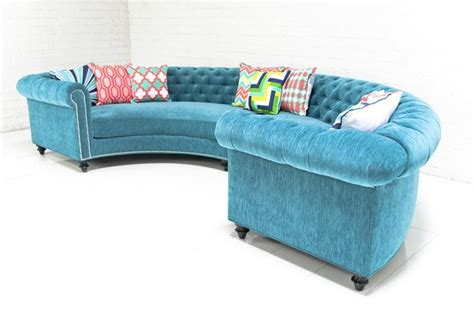 Turquoise Sectional Sofa Turquoise Chesterfield Sofa Chesterfield Sectional In Turquoise Velvet I Roomservicestore