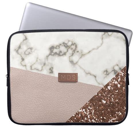 Laptop Aufkleber Gold by Faux Blush Rose Gold Glitter Marble Laptop Sleeve Zazzle