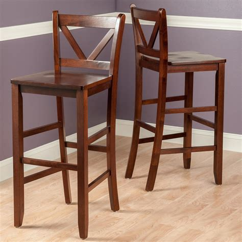 29 inch wood bar stools with back winsome victor 2 v back bar stools 29