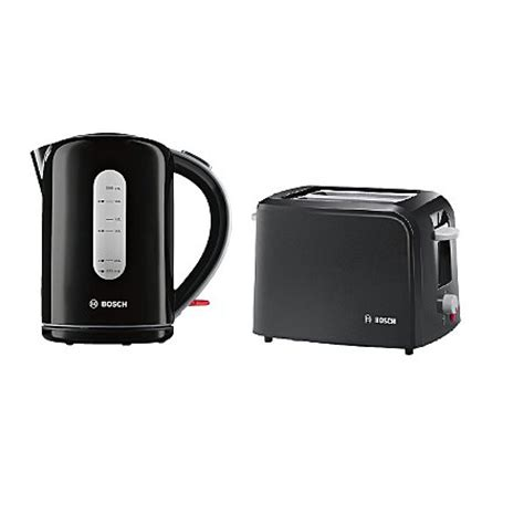 Range Toasters Bosch Kettle Toaster Range Black Kettles