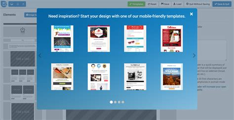 mobile friendly email templates image collections