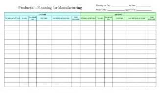 doc 585520 production schedule template production