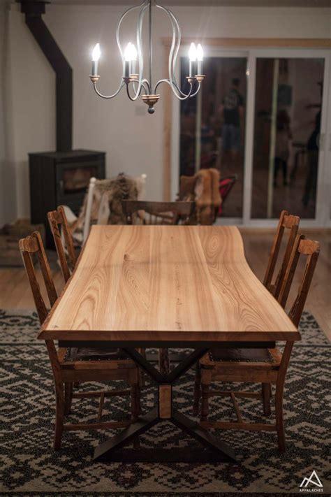table de en bois table de cuisine en bois brut et m 233 tal la rustique