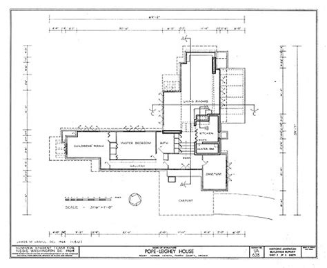 mt vernon architectural drawing with floor plan of frank lloyd wright
