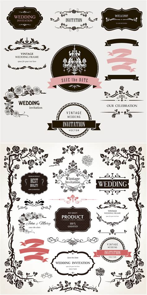 Wedding Design Elements Vector | wedding vector graphics blog
