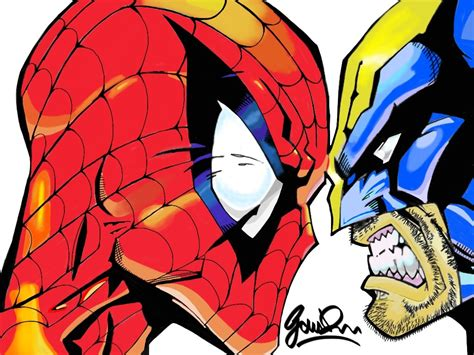 imagenes de wolverine vs superman spiderman vs wolverine by giorgioigroig on deviantart