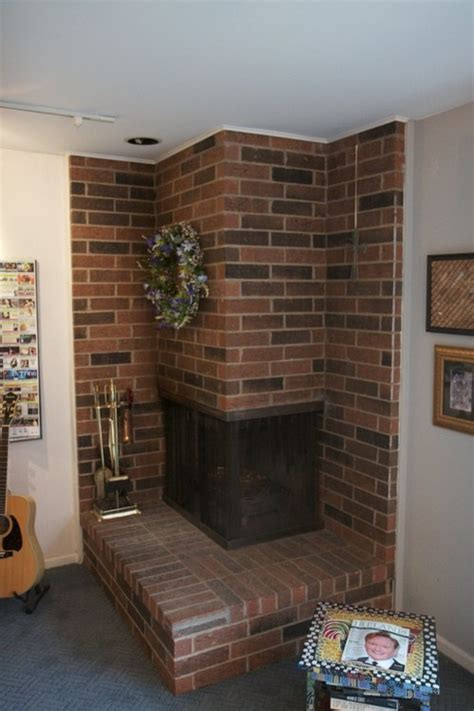 Corner Brick Fireplace by Corner Brick Fireplace