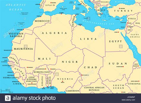 map of europe and africa with countries africa countries political map with capitals and