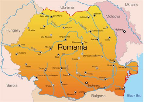 map of romania romania map with cities blank outline map of romania