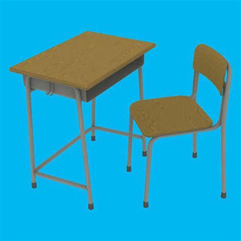 japan furniture japanese 3d model 3d model japanese school desk set cgtrader
