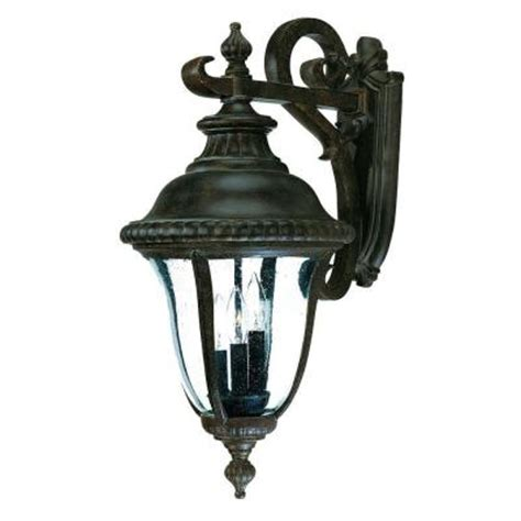 Discontinued Outdoor Lighting Acclaim Lighting Collection Wall Mount 3 Light Outdoor Black Coral Light Fixture