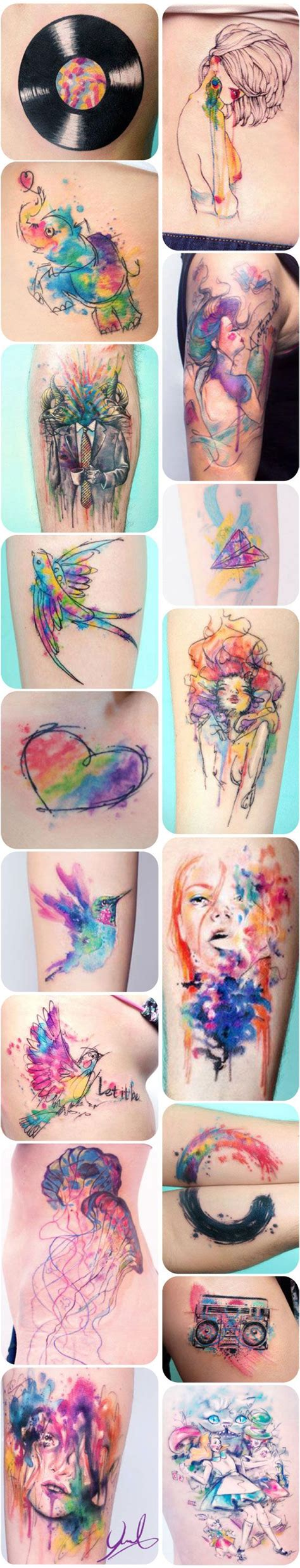watercolor tattoos last watercolor tattoos picmia