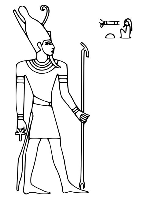 egypt god coloring pages ancient egypt coloring pages