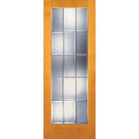 15 Light Interior Door Feather River Doors 30 In X 80 In 15 Lite Unfinished Pine Clear Bevel Zinc Woodgrain Interior