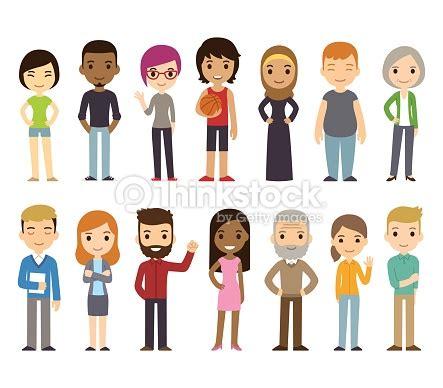 consumer pattern en francais cartoon diverse people vector art thinkstock
