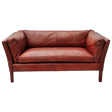 Small Leather Sofa Buy Halo Groucho Small Leather Sofa Lewis