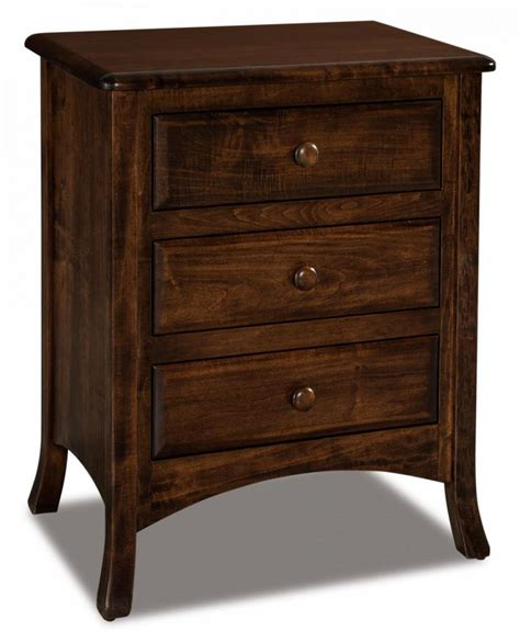 night stand height carlisle 3 drawer nightstand tall amish furniture store