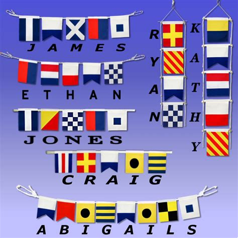 nautical flag spell your name with nautical signal flags ib designs usa