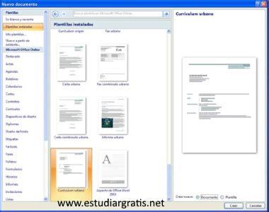 Plantilla De Curriculum Word 2007 descargar plantillas curriculum vitae para word 2007