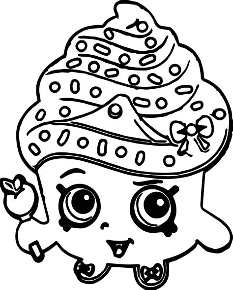 revisited shopkins cupcake coloring pages page