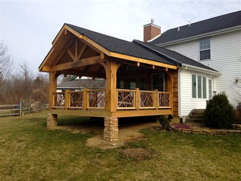 Roof Patio by Cedar Timber Covered Deck