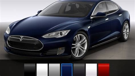 tesla colors tesla model s reduces colors with new options autoblog