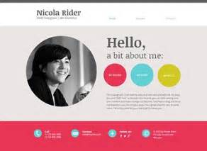 Personal Website Resume Examples Curriculum Vitae Website Template Wix