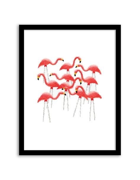 printable wall art pdf flamingo flock watercolor wall art free printable