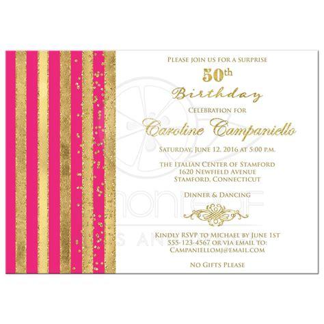 Pink Birthday Invitation Card