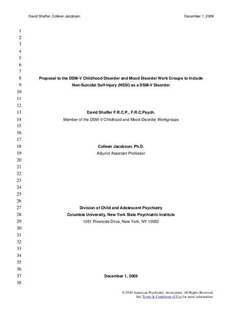 dsm 5 section 1 apa dsm 5 nssi proposal