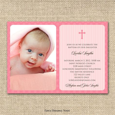 Blank Wedding Invitation Sles by Wording Ideas For Baptism Invitations In Wedding