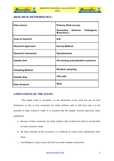 Marketing Project Report Mba by Customer Satisfaction Bharat Gas Project Report Mba