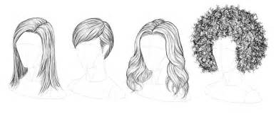 step by step hairstyles to draw how to draw hair step by step