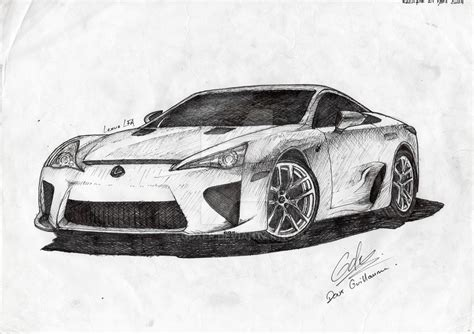 lexus lfa drawing lexus lfa by egdxfr on deviantart
