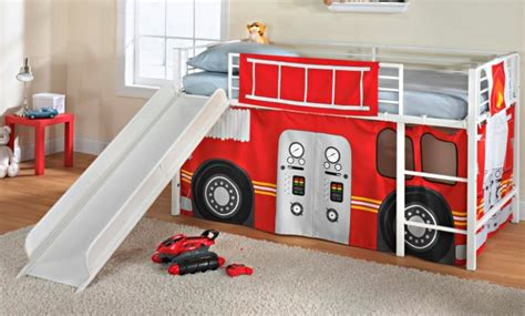 Essential Home Slumber N Slide Curtain Fire Truck Home