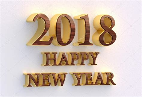 new year template 2018 happy new year 2018 gold and wood text 3d design