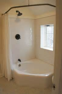 Corner Bath Shower Combo Corner Tub Corner Tub With Shower Curtain Round The